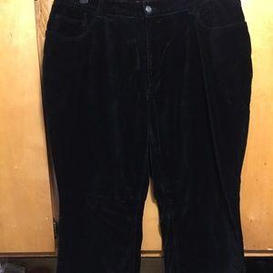 Velveteen Black Slacks